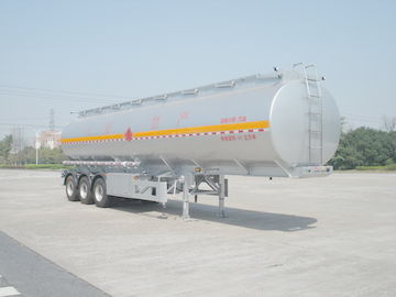चीन 46000L Aluminum Alloy 3 Axles Diesel Oil Tank Trailer , Light Gasoline Trailer वितरक